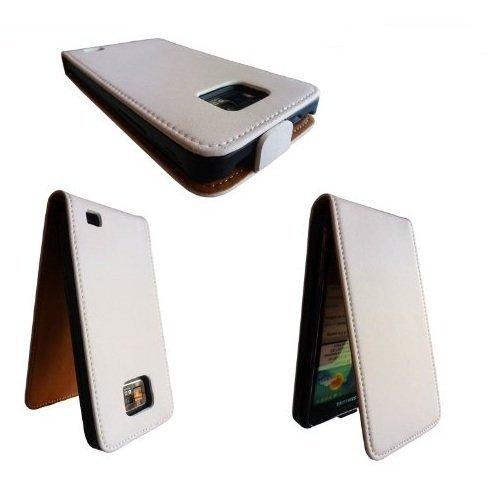 Avcibase 4260310640532 Flip Etui für Samsung Galaxy S2 i9100 weiß