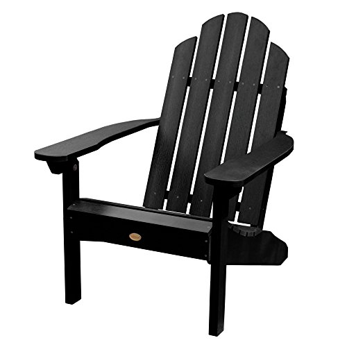 Highwood AD-CLAS1-BKE Classic Westport Adirondack Chair, 29.75W x 34.5D x 39.5H in. in, Black ()