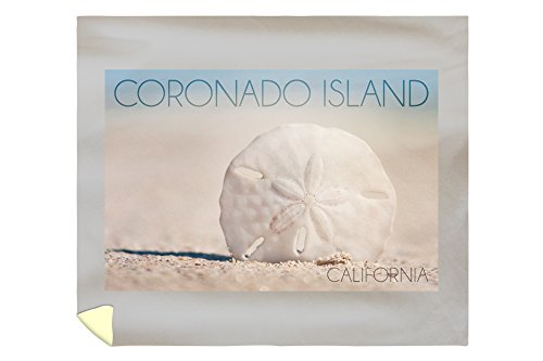 Lantern Press Coronado Island, California - Sand Dollar and Beach 67976 (88x104 King Microfiber Duvet Cover)