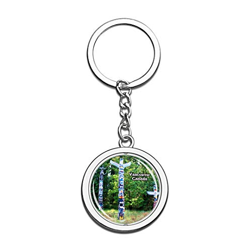 Keychain Stanley Park Vancouver Canada Keychain 3D Crystal