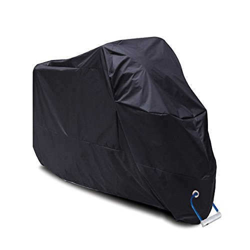 Store Away Motorcycle Cover (YOOFAN Black Waterproof Motorcycle Cover(XXL),Fits up to 108