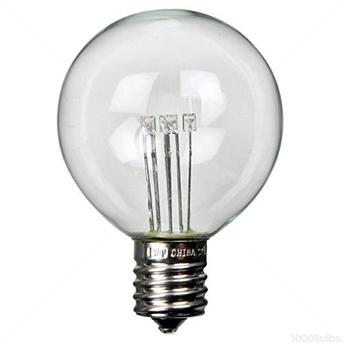 (25 Pack - 0.5 Watt - LED - G12 - 1.5 in. Dia. - 7 Watt Equal - Clear - 2700K Warm White - E17 Base - 130 Volt - PLT LEDGG4017WW)