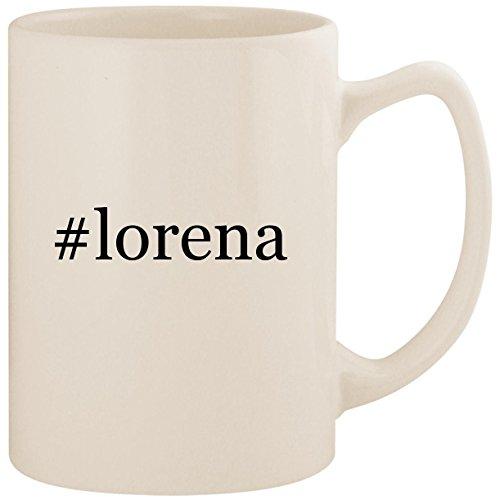 #lorena - White Hashtag 14oz Ceramic Statesman Coffee Mug Cup (Lorena Stoves)