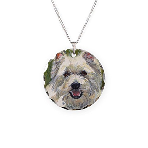 - CafePress - Happy Westie - Charm Necklace with Round Pendant