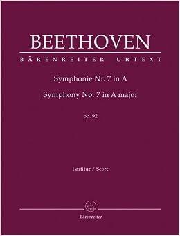 ベートーヴェン: 交響曲 第7番 イ長調 Op.92/デル・マール編/ベーレンライター社/指揮者用大型スコア