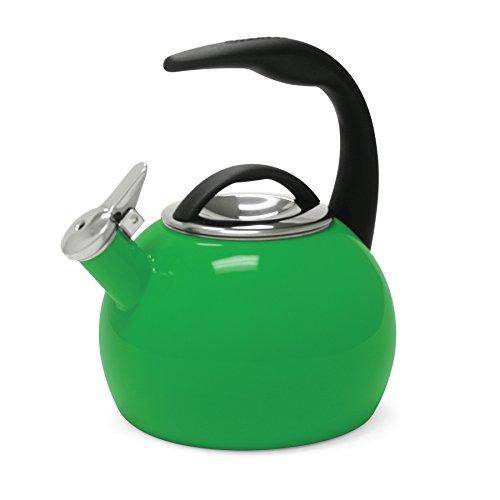 Chantal 40th Anniversary Enamel on Steel Teakettle, 2-Quart, Emerald Green