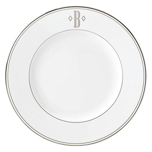 Lenox Federal Platinum Dinner Plate - Lenox Federal Platinum Block Monogram Dinnerware Dinner Plate, B