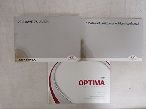 Optima Water - 2015 Kia Optima Owners Manual book ( Water Damaged )