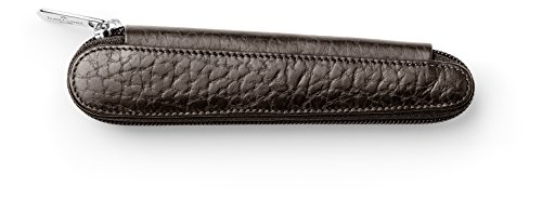(Faber-Castell 189313 Leather Case with Zip Fastener for 1 Pen Brown)