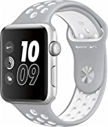 Apple Watch Nike+ 42mm Silver Aluminum Case Silver/White Nike Sport Band