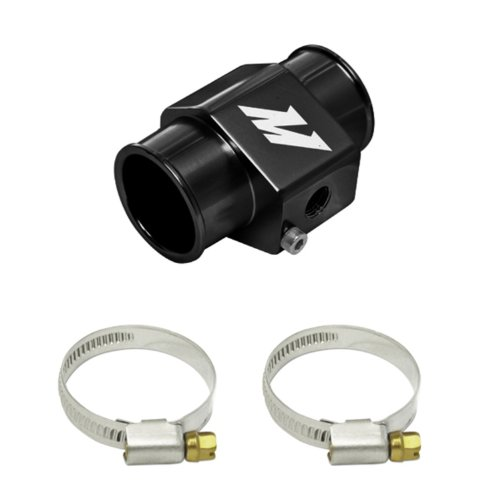 Mishimoto MMWHS-34-BK Black 34mm Water Temperature Sensor Adapter