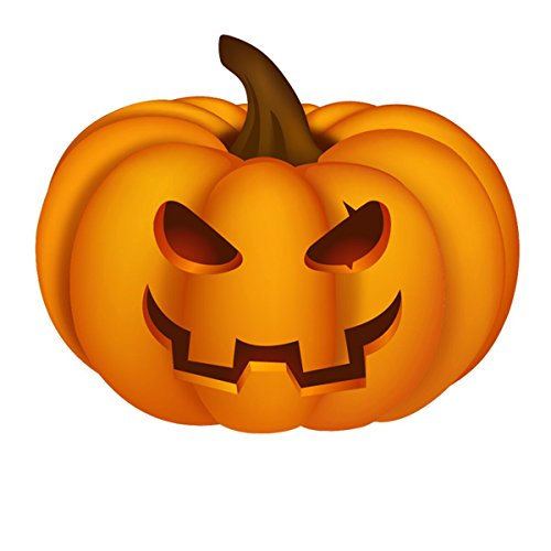 2-Foot Halloween Pumpkin Face Cutout]()