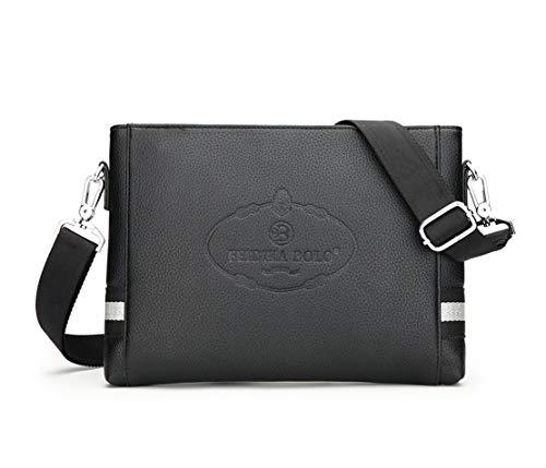 Bags Desgaste Pu Resistente Bolso Hombro Messenger Casual Layxi Ligero Crossbody Waterproof Cuero Shoulder Hombre De Viaje Multiusos Al Bolsa Negro wvXZpcZqB