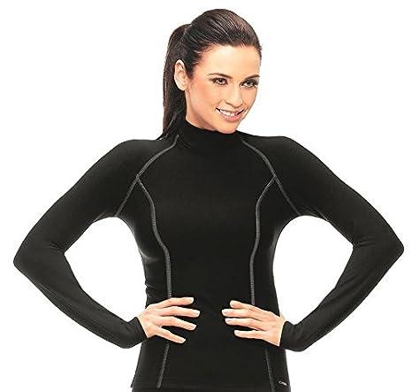 gWINNER térmico de ropa interior Mujer Manga Larga Camiseta, Perfect Interior para invierno – y