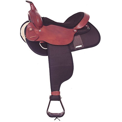 Fabtron Cordura Square Trail Saddle 16 Brown for sale  Delivered anywhere in USA