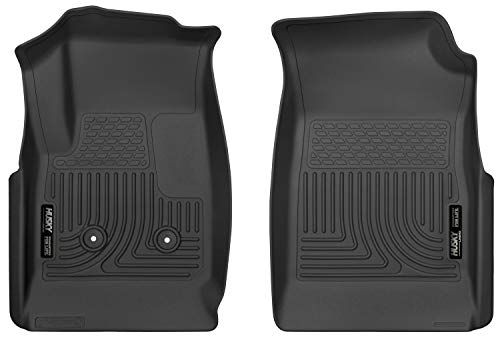 Husky Liners Black Weatherbeater Front Floor Liners Fits 2015-19 Chevrolet Colorado, 2015-19 GMC Canyon Crew/Extended Cab