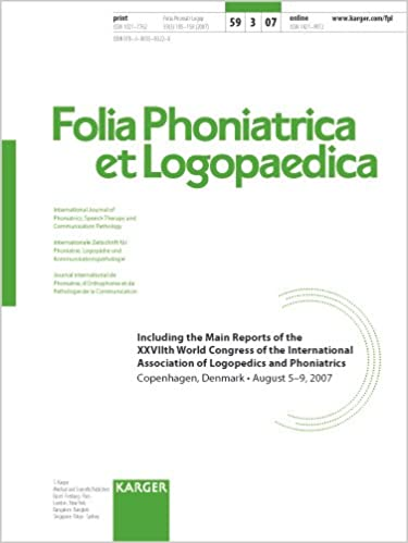 International association of logopedics and phoniatrics 27th world congress copenhagen august 2007 ma