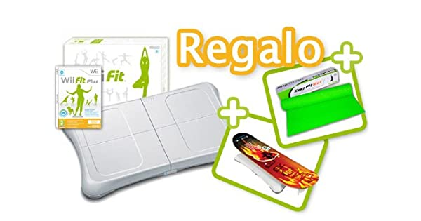 TABLA WII FIT PLUS + SKATEBOARD + ALFOMBRA YOGA: Amazon.es ...