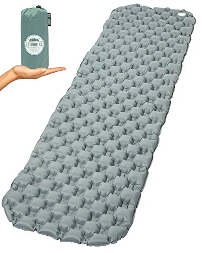 Leisure Co Ultralight Inflatable Sleeping Pad - Air Camping
