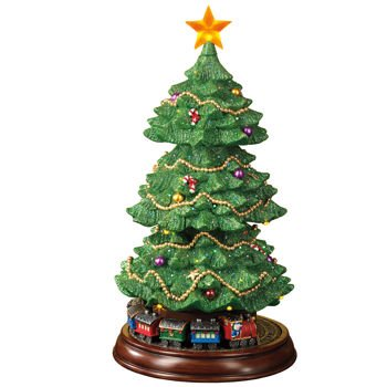 "Fiber Optic Rotating Christmas Tree with Moving Train 15"" ... - Amazon.com: Fiber Optic Rotating Christmas Tree With Moving Train 15"