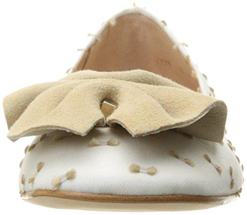 French Sole Fs / Ny Wiggle Balletto Piatto Bianco / Taupe