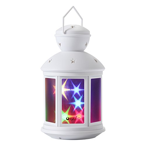 OxyLED OxyMas BN07 Twinkle Little Lantern Light for Children – Decorative Lighting with Holographic 3D Stars and Dual Modes for Warm and Colorful Lights