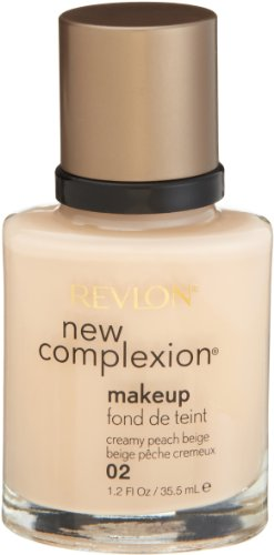 Revlon New Complexion Makeup, Creamy Peach Beige, 1.2 Ounces