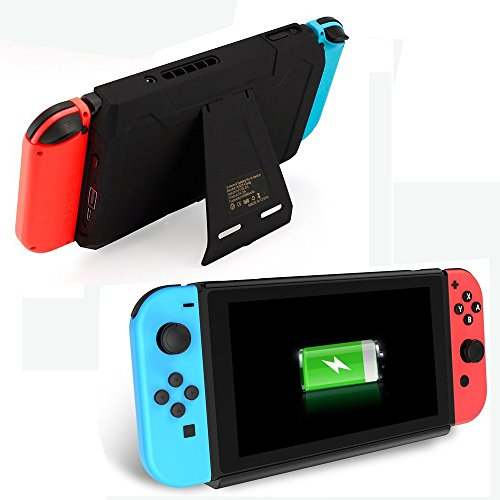 Mimd Nintendo Switch Battery Charger Case 10000mAh Extended Travel Charge Stand Portable Battery Backup Power Bank for Nintendo Switch ()