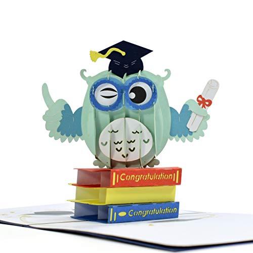 Cutepopup OWL with Graduation Cap 3d pop up greeting Cards Best gift idea for Student Teacher Professor University or Back to School day (Best Teacher Card Ideas)
