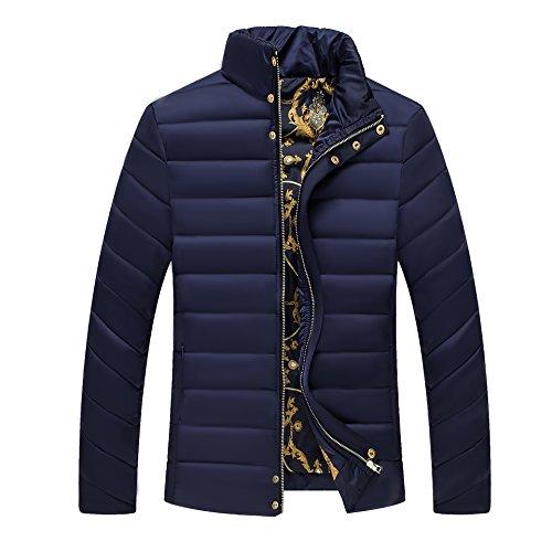 Qin Uomini Outwear Blu Cappotto Casuale Navy Di Spessore Caldo Inverno Degli Di X Imbottito E SwHRdpTqp