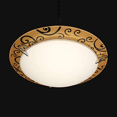 2 Lights Flush Mount Ceiling lamp Lighting fixtures for Bed Room, Living Room, Dining Room, Kitchen, Lobby, Hallway,Libraries, Restaurant, Church, Cafe, Shops, Railway Stations, Waiting Room (Brown)
