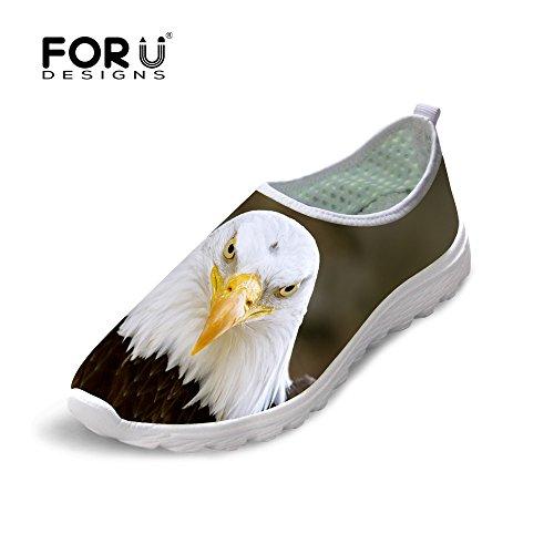 Per Te Disegni Cool Animal Print Mesh Traspirante Comodo Slip On Women & Men Running Shoes Eagle