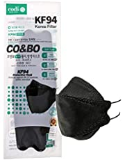 CO&BO Well-Being Hygiene KF94 Face Masks WK-950 Black [Individually Packaged] - Made In Korea