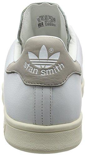 adidas Stan Smith S75075, Zapatillas Para Hombre, Blanco (Footwear White/Footwear White/Clear Granite), 45 1/3 EU Blanco (Footwear White/footwear White/clear Granite)