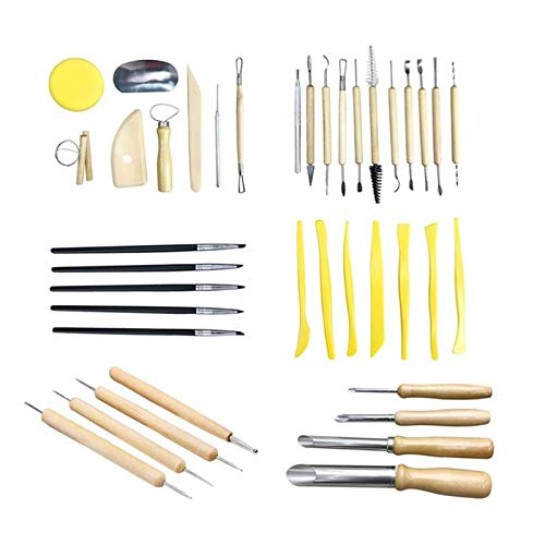 Sculpting Tools 40pcs Clay Sculpting Pottery Carving Tool Set Ceramics Modeling Clay Tools Develop children's practical ability imagination by Sculpting Tools (Image #1)