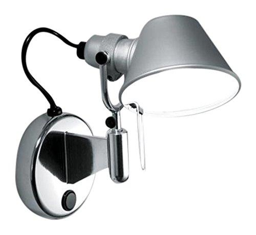 Artemide A044050 Wandleuchte für Innenbereiche, Fassung E14, 46 W, Aluminium, Schutzart IP20, für 1 Leuchtmittel