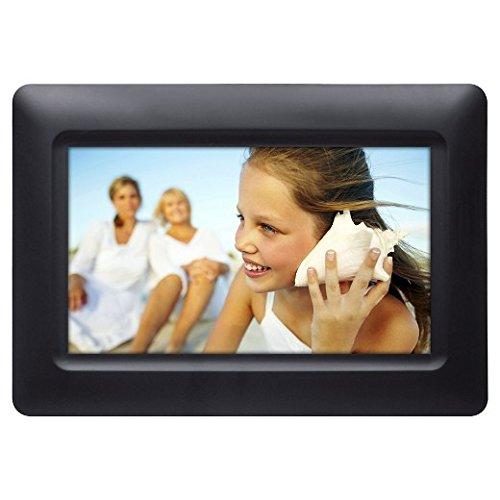 Polaroid 074-15-0117 Digital Photo Frame 7'' Screen - Black