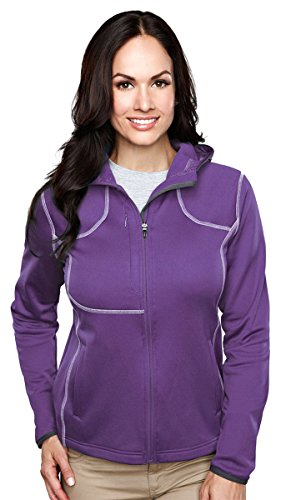 Tri-mountain Womens 100%Poly Micro Fleece long sleeve ULTRA COOL jacket with hood. 7382 - PURPLE_4XL