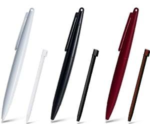 DSi XL Jumbo Touch Pen Set - Black/White/Wine Red - Nintendo DS Standard Edition