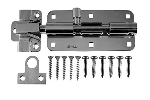 - AjustLock 8 Inch Barrel Bolt, Extra Heavy Duty Lock (Stainless Steel)