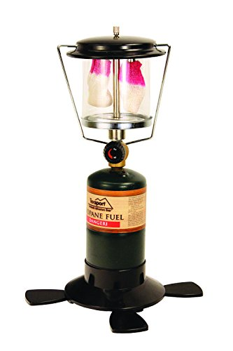 Texsport Double 2 Mantle Propane Lantern for Outdoor - Double Lantern Light Mantle Propane