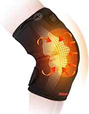 Holeohon Heating Pad for Knee, Heated Knee Brace Wrap with 3 Heat Settings, Far Infrared Electric Portable Heated Knee Pad Hot Therapy Relief for Legs, Knees, Arms, Calfs Pain