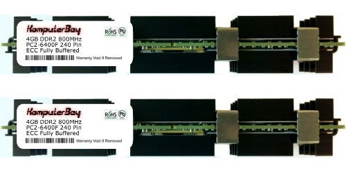 KOMPUTERBAY 8GB (2 x 4GB) FULLY BUFFERED (FB-DIMM) PC2-6400 DDR2 ECC 800MHz SPECIAL APPLE KIT Memory