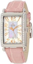 Gevril Women's 7248RE Mini Quartz Avenue of Americas Pink Diamond Watch