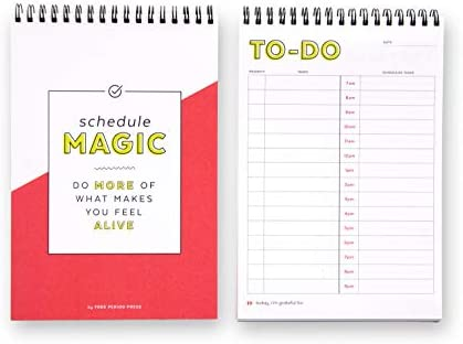 graphic relating to Time and to Do Planner titled Program Magic Everyday Planner In direction of Do Checklist Laptop computer, 140 Spiral Certain Web pages, Cost-free Time period Force