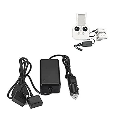 Rantow Drone Car Charger Battery Charging Adapter for DJI Phantom 3 SE/4K/Standard/Professional/Advanced Quadcopter, Charge for 2 Batteries and Remote Controller: Toys & Games