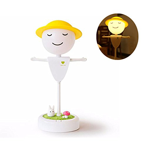 Price comparison product image Alotm Cute Scarecrow LED Small Sensor Night Light for Children Kids Baby Decorations Light Lamp for Home Office Garden School