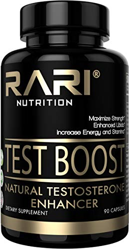 RARI Nutrition - Test Boost - 100% Natural Testosterone Booster for Increased Muscle, Endurance, and Stamina - Vegan and Keto Friendly - Easy to Swallow Pills - 30 Servings (Rare 100% Natural)