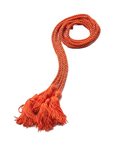 - Graduation Honor Cord, Double For Academic Commencement For High School, College And University, Orange