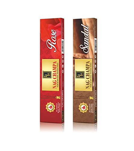 NagChampa Premium Natural fragrance sticks - Pack of 6 (10 Sticks Per Box)